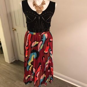 Beautiful multi colored pleated skirt
